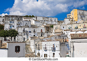 Panoramic view of Monte Sant'Angelo. Puglia. Italy.