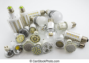 LED lamps GU10 and E27 with a different chip technology also...