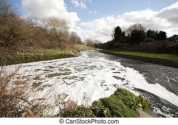 river fork - water from a treatment plant flowing back into...