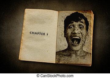 libro, de, horror, Capítulo, 1, lectura, el, muerte