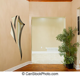 Interior design - Hallway interior in a new house with art...