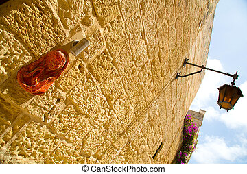 Mary Jane on a buildings wall - Historic Architecture in...