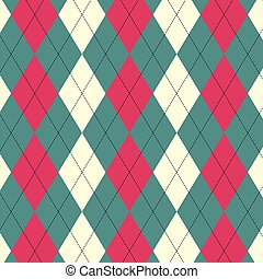 Argyle Seamless - a three coloured Argyle seamless pattern...