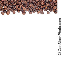 Brown roasted coffee beans