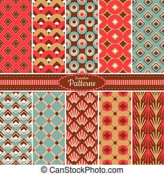 Collection of seamless pattern backgrounds