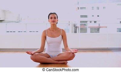 Calm beautiful woman relaxing