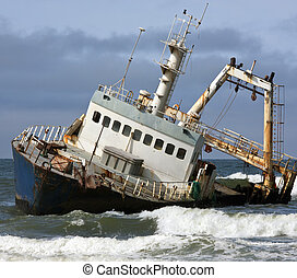 Shipwreck - Skeleton Coast - Namibia - A shipwreck on the...