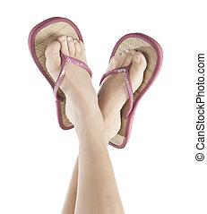 feet in Flip Flop Sandals