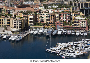 Principality of Monaco - The Port of Fontvieille in the...