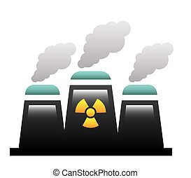 nuclear power over white background vector illustration