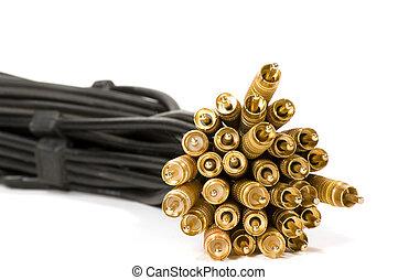 長, 電纜,  rca, 電纜