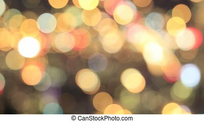 Colorful Out of Focus Blurred Bokeh Background Time Lapse...