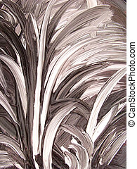 Feathery grass abstract