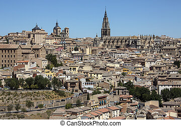 Toledo - La Mancha - Spain - The city of Toledo in the La...