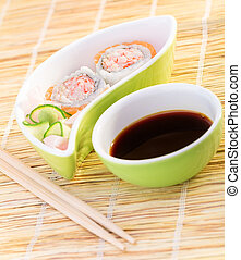 Fresh tasty sushi
