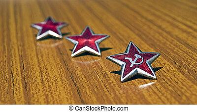 Red communist stars
