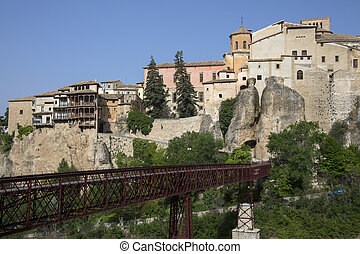 Cuenca - La Mancha - Spain - The hanging house in the city...