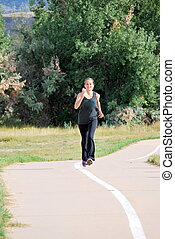 Female runner.