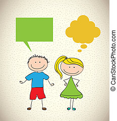 Kids design - kids design over pattern background vector...