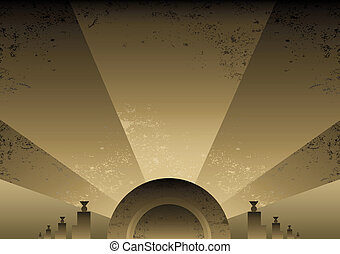 Art Deco Futurist style background design Vector format and...