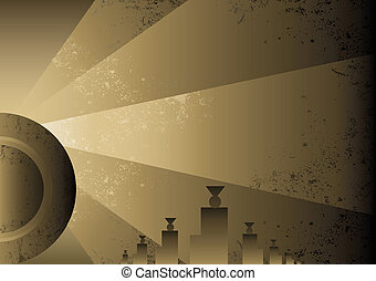 Art Deco Futurist style background design. Vector format and...