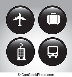 travel icons over gray background vector illustration