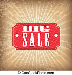 big sale tags over grunge background. vector illustration