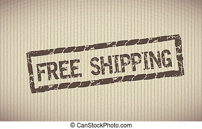 free shipping label over lineal background vector...