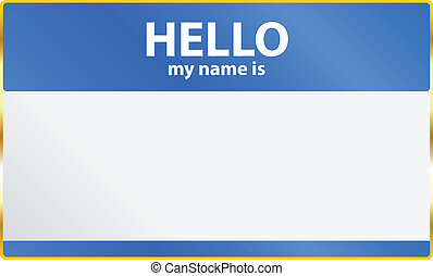 Hello My Name Is Card Vector Illustration