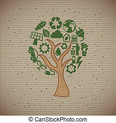 protect the environment over lineal background vector...