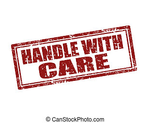 Handle With Care-stamp