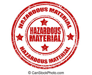 Hazardous Material-stamp - Grunge rubber stamp with text...