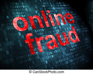 Safety concept: Online Fraud on digital background - Safety...