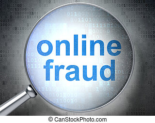 Privacy concept: Online Fraud with optical glass