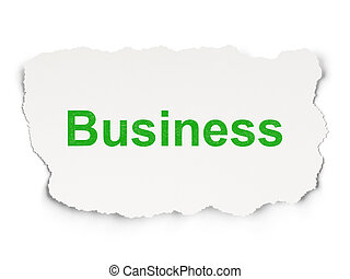Finance concept: Business on Paper background