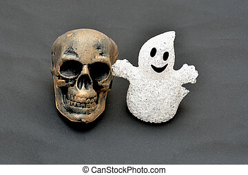 Skull and ghost
