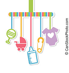 baby shower design over white background vector illustration...
