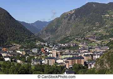 Andorra La Vella - Andorra - The main town of Andorra La...