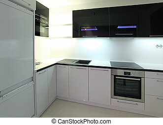 Stockbild von villa, modern, luxus, kueche - Modern, kueche , in ... | {Küche modern luxus 15}