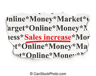 Marketing concept: Sales Increase on Paper background