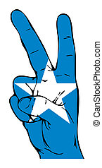 Peace Sign of the Somali Flag