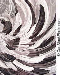 fantasy abstract - Painted wing abstract in black and white...
