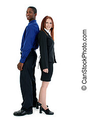 Interracial Business Couple