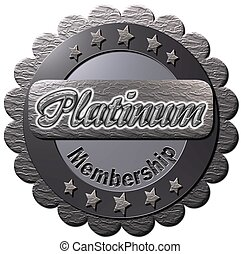 Platinum Membership - A platinum seal with Platinum...