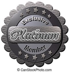 "Exclusive Platinum Member - A platinum seal with ""Exclusive..."