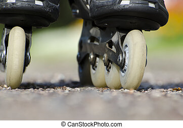 Roller skates - Close up on roller skates