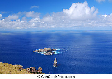 View of Moto Nui from Orongo - Easter Island