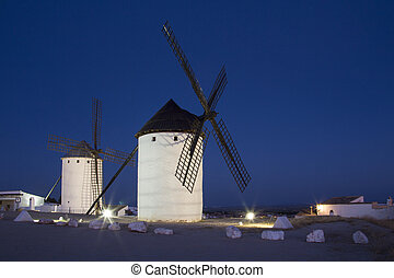 Windmills of La Mancha - Spain - Windmills in Campo de...