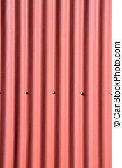 Red corrugated metal as a background image