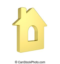 Gold house icon